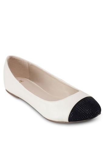 圓頭拼接平底鞋, 女鞋,esprit台灣 鞋