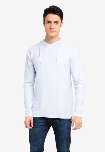 Factorie blue Long Sleeve Hoodlum T-Shirt E2674AAE769891GS_1