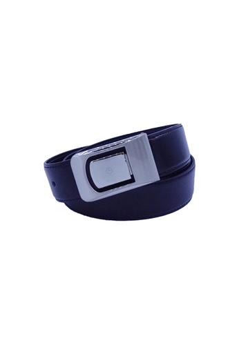 Goldlion black Goldlion Men Leather Plate Belt - Black 86BFAACACF1CE2GS_1