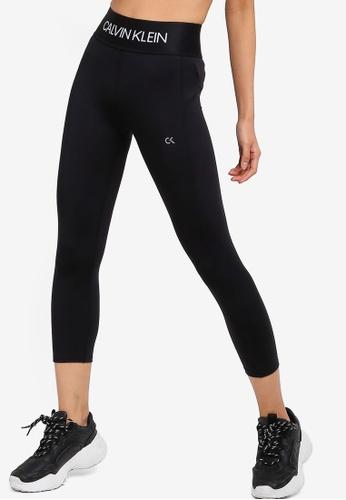 Calvin Klein 黑色 LOGO印花緊身褲 EF773AA2381964GS_1