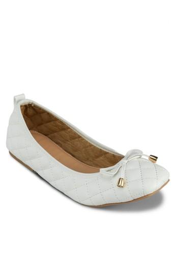 菱形絎zalora 包包評價縫蝴蝶結娃娃鞋, 女鞋, 鞋