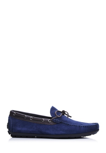 BONIA blue Men Dark Blue Suede Slip-On Loafers 51977SH6FF51DAGS_1