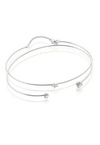 Vivere Rosse silver Starlight Bangle - Silver VI014AC75THCMY_1