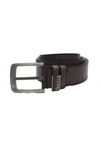 POLOVENZI brown Polovenzi Men Leather Belt F77C2AC3FB98C7GS_1