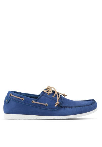 Dune London blue Belize Lace Up Boat Shoes DU588SH88UDRMY_1