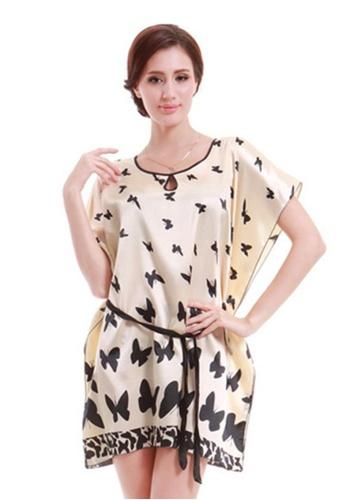 SMROCCO beige Butterfly Nightie Sleepwear Dress L7038 SM066US63WIMMY_1