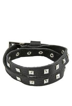 Men's Wrap Around Leather Wristband