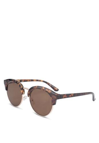 Rubi brown Freya Sunglasses B7136GLFF5B9FBGS_1