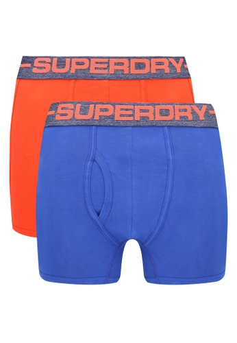 Superdry orange and blue Double Pack Sport Boxers SU137US0RSHMMY_1