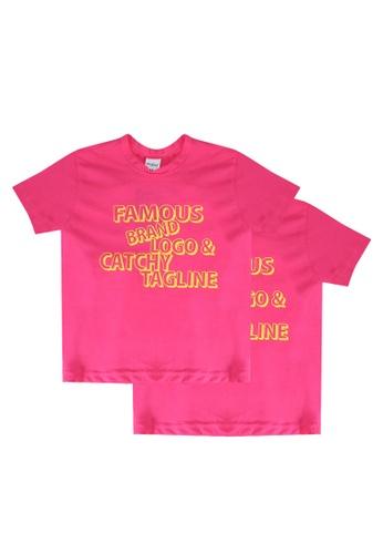 UniqTee pink Famous Brand Tee 2-Pack D2A39KA0FF521AGS_1