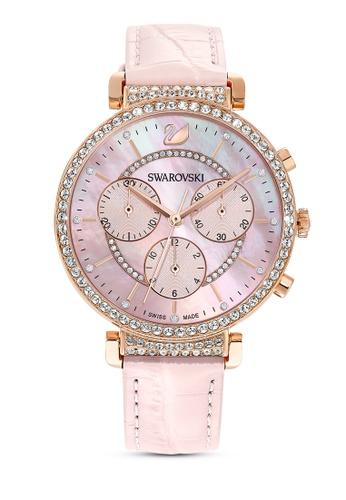 Swarovski pink Passage Chrono Watch 5412BACD6B93BFGS_1
