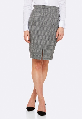 Oxford grey Alice Check Suit Skirt B4594AA0907154GS_1