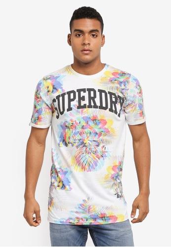 Superdry white VARSITY LONG LINE TEE 43005AAFDCE401GS_1