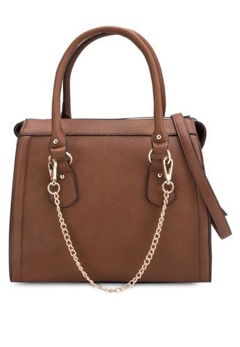鍊飾立體手提包,esprit 鞋 包, 包