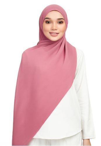 DONNINGDONNA pink Euphoria Pleats - Bubblegum Shawl 38890AA1EABDFFGS_1
