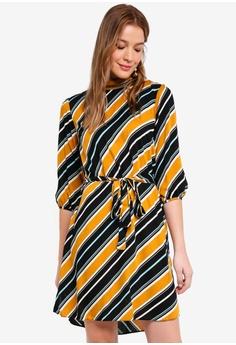 d4bc68d32a4b Dorothy Perkins orange Ochre Stripe Sleeve Dress 3D793AA50FC8C5GS 1