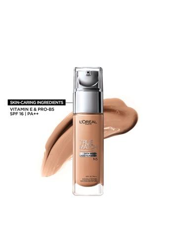 L'Oréal Paris beige True Match Natural Finish Liquid Foundation - N5 Nude Cream C3D69BED3B22F2GS_1