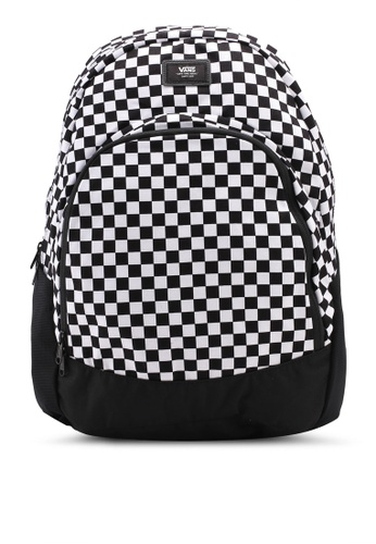 VANS black and white Van Doren Original Backpack VA142AC0SWMMMY_1