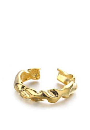 HAPPY FRIDAYS Irregular Hammer Texture Ring DWJ0849 2D715AC613F848GS_1