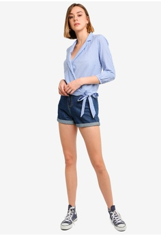 d94dccdd2 26% OFF Jack Wills Keira Stripe Wrap Shirt S$ 99.90 NOW S$ 73.90 Sizes 4 6  8 10 12