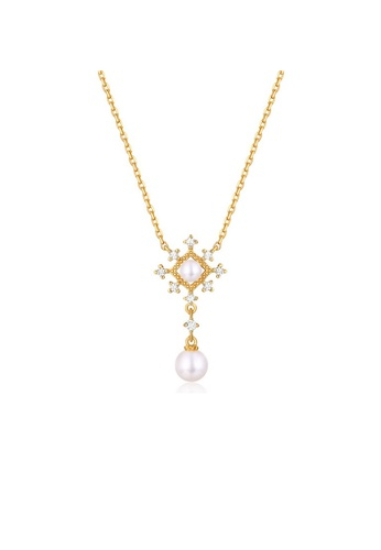 SUNSET gold Premium 925 Sliver Pearl Necklace 53ED0ACADD89E3GS_1
