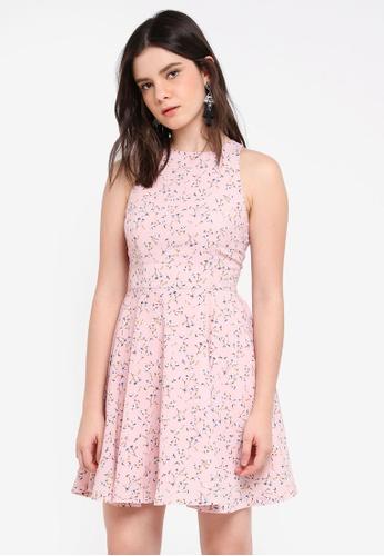 ZALORA pink Mini Swing Dress 9E30DAA9A90451GS_1