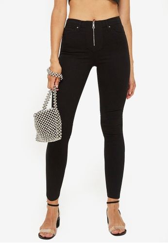 ad8f3860a96 Buy TOPSHOP Petite Zip Front Jamie Jeans Online on ZALORA Singapore