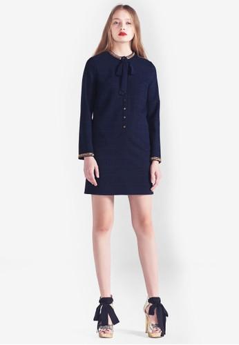 MAGAN 格紋長袖連身裙, 服飾, 洋esprit童裝門市裝