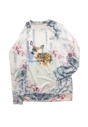 Twenty Eight Shoes grey VANSA Christmas Deer Long-Sleeved Sweatshirt VCW-Ss8966 5511FAAD3EC510GS_1