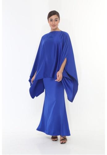Amar Amran blue Baju Kurung  Kaftan Kaulawa 46B0FAA4AB6AF5GS_1