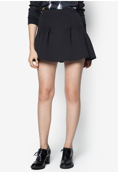 Neoprene Pleated Skirt