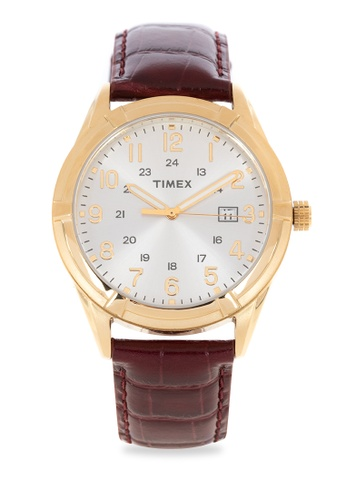 TIMEX brown Sports Chic Leather Watch B5284AC2351229GS_1