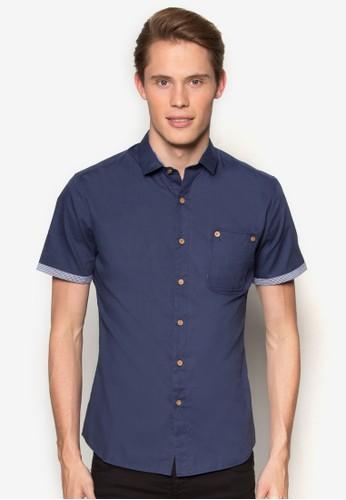 拼布口袋貼身esprit outlet 香港短袖襯衫, 服飾, 襯衫