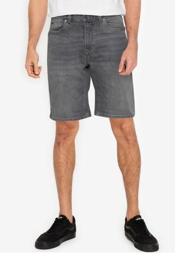 Springfield grey Slim Fit Light Wash Denim Shorts BE733AAEA4A4F9GS_1
