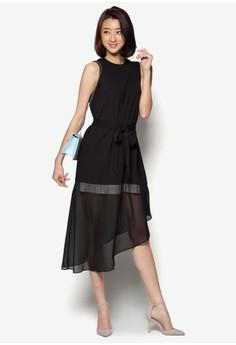Asymmetric Hem Midi Dress