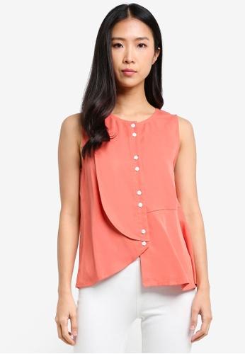 WEEKEND SUNDRIES orange Soft Shapes Blouse WE453AA0FXU9SG_1