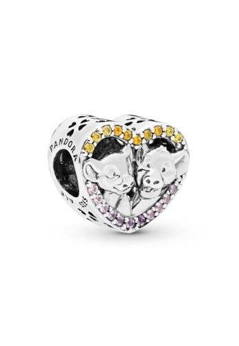 PANDORA silver Pandora x Disney The Lion King Simba and Nala Heart Charm 727D6ACB238494GS_1