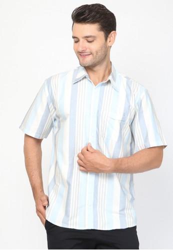 Allev blue Hasan Shirt - Biru Salur F45C5AA7DC8C1BGS_1