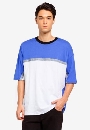 Factorie 藍色 撞色T恤 857A9AA0EF91E6GS_1