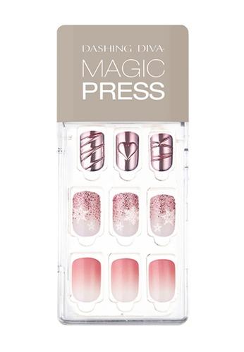 Dashing Diva pink Dashing Diva 1 SEC. MAGIC PRESS Manicure Pink Glimmer/ Press on Nails /Nail Tips 6B060BE51784A3GS_1