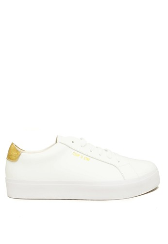 CDE white CDE Ceremonial Men Sneaker White/Gold (Sepatu Sneakers Pria Putih dengan Aksen Emas) 89C73SH706D167GS_1