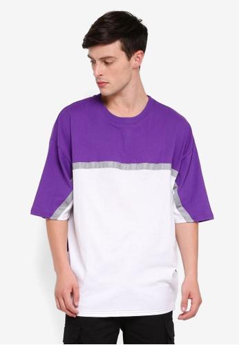 Factorie 紫色 Reflector Block T-Shirt 304C2AA4B42F7EGS_1
