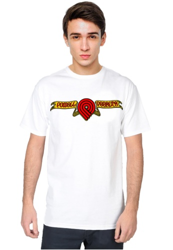 Powell Peralta white Powell Peralta Triple P Skull and Sword T-Shirt White C2C68AACD14B02GS_1