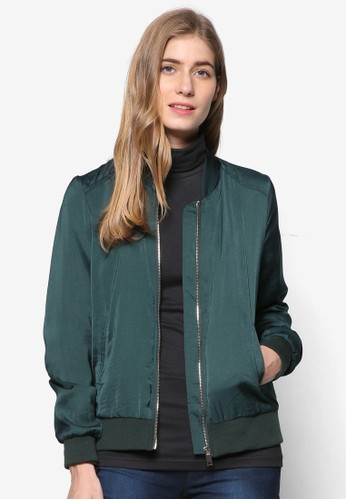 棉緞面esprit outlet台北飛行夾克, 服飾, 棒球外套