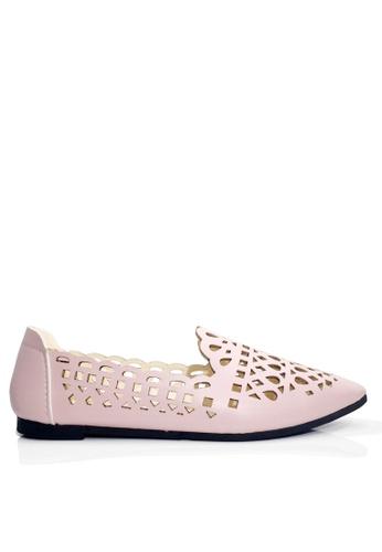 Twenty Eight Shoes pink Foollow Out Slip-ons VL608 2D594SH1226858GS_1