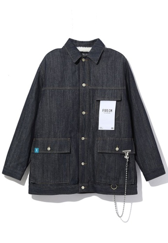 Fivecm navy Denim faux jacket 1896DAAFCE157DGS_1