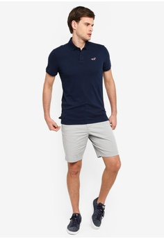 3cbbf4be Hollister Heritage Slim Fit Solid Polo Shirt S$ 48.00. Sizes XS S M L XL