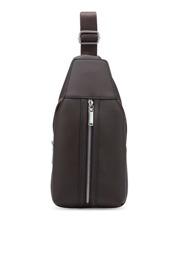 ZALORA brown Small Zip Detail Shoulder Bag 249CDZZ796C6D0GS_1