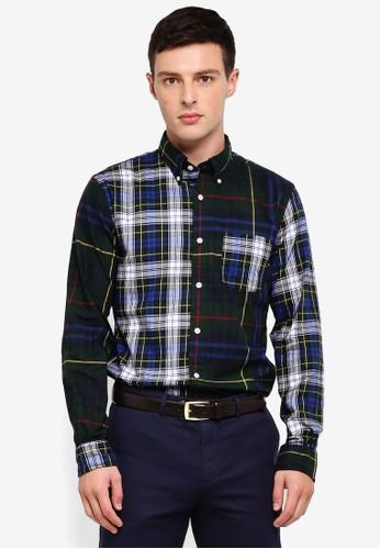 Brooks Brothers multi Red Fleece Tartan Cotton Flannel Fun Shirt 39B5CAAEF0D32CGS_1