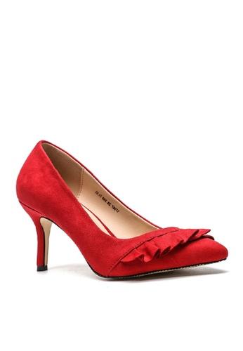 Twenty Eight Shoes red Ruffles Heels VL679 B1DD7SH32B3AFFGS_1